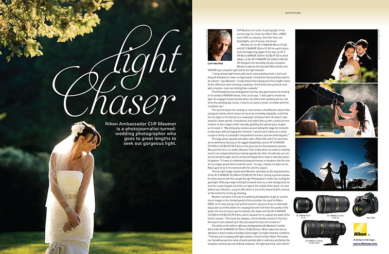 Appearance with Nikon for Rangefinder Magazine