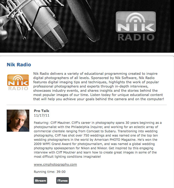Nik Radio Interview