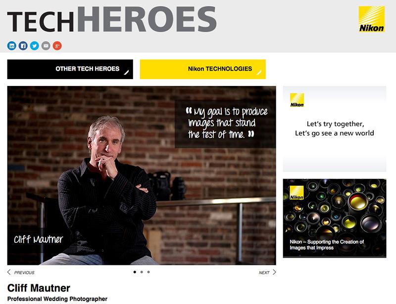 Nikon CNN Tech Hero on Global Website